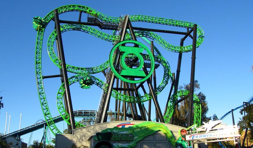 Green Lantern First Flight Six Flags Magic Mountain Dc
