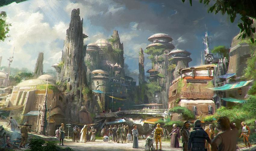 Possível mapa da Star Wars Land no Disneyland Park?