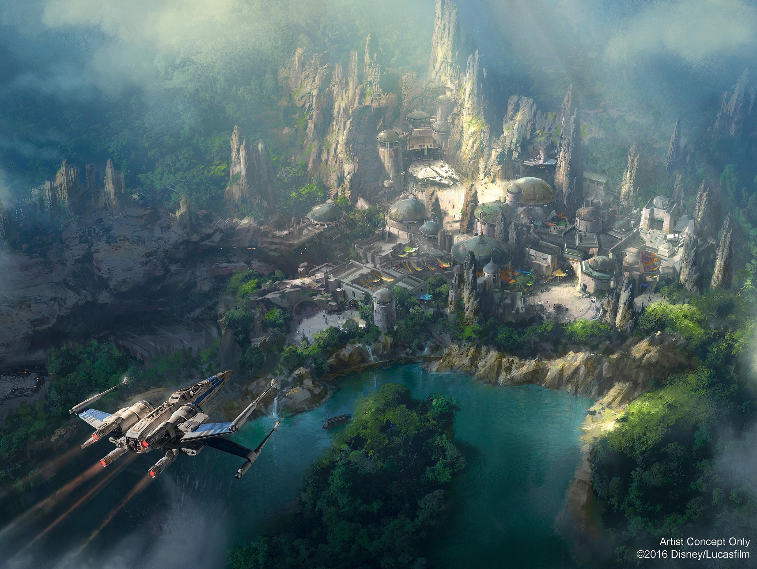 Nova imagem conceitual da Star Wars Land no Disneyland Park