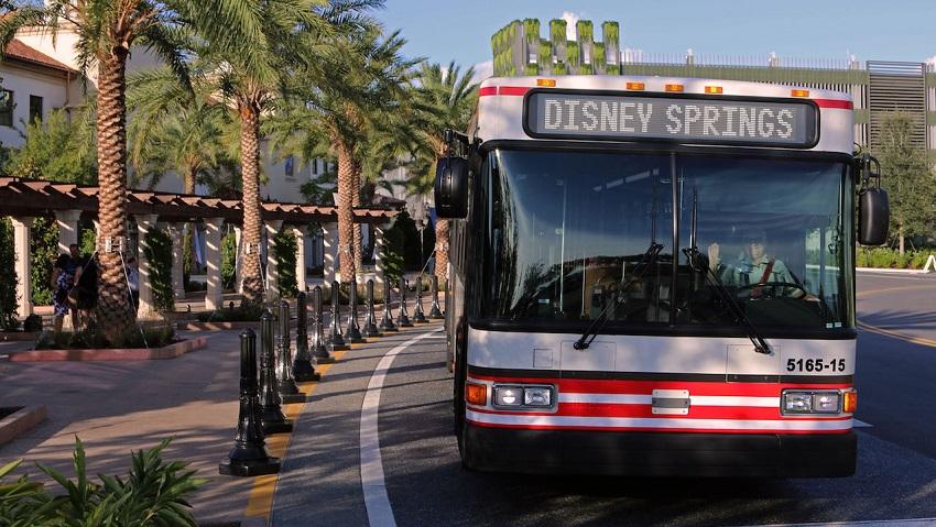 Disney apresenta linha de ônibus direta dos parques ao Disney Springs no final do dia