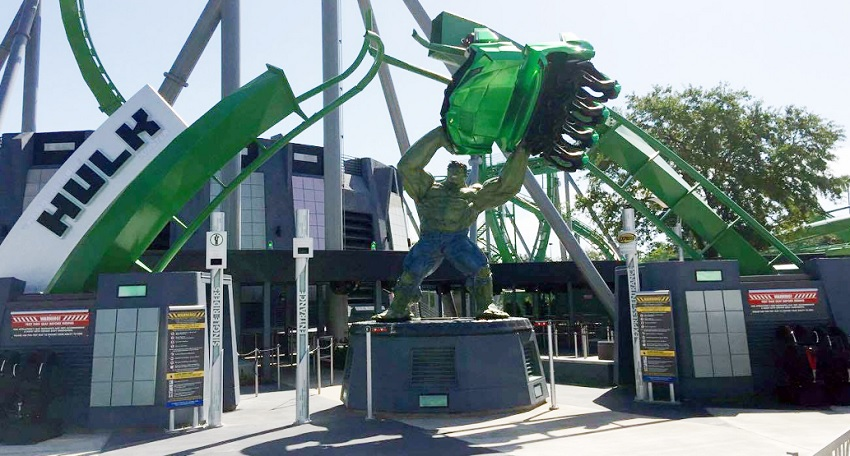 Montanha-russa The Incredible Hulk reabre, reformulada, no Islands of Adventures