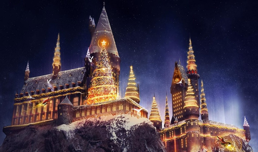 Comemoração de Natal chega ao The Wizarding World of Harry Potter de Orlando